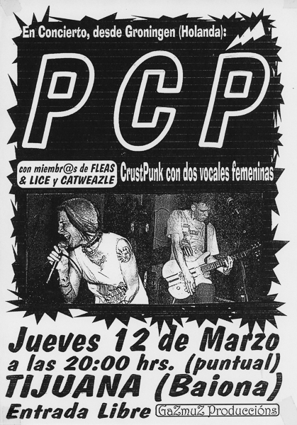 PCP @ Tijuana, Baiona SPA 12 March 1998 - bacteria nl